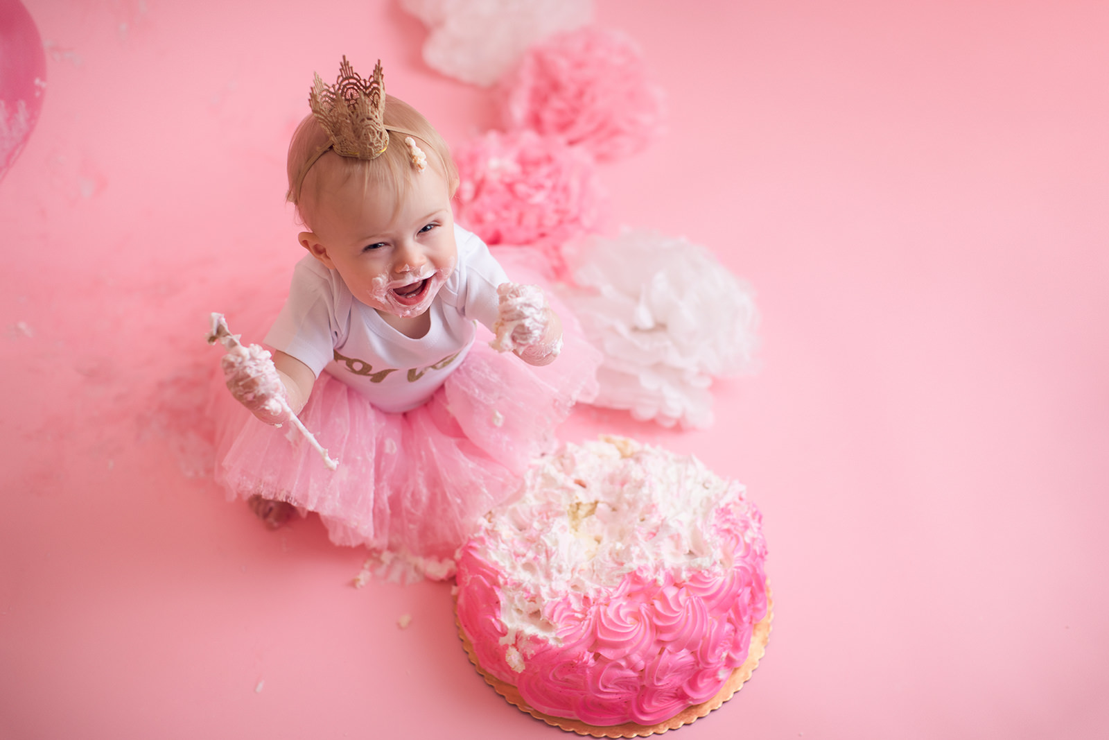 one year old cake smash Photography San Jose Bay Area